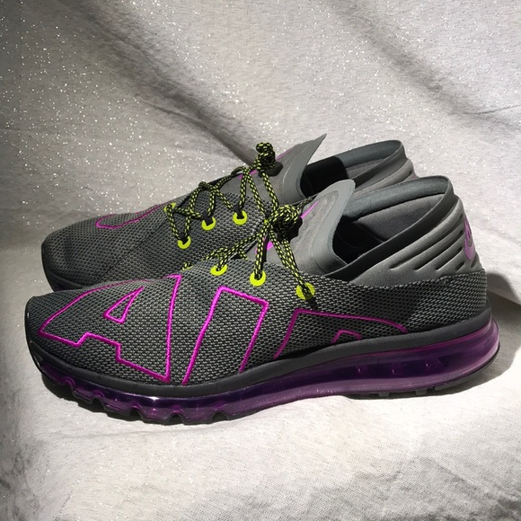 Nike Air Max Flair uptempo purple volt men size 13 NWT